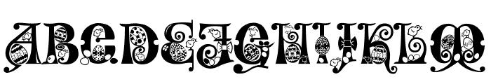Kingthings Eggypeg Font UPPERCASE