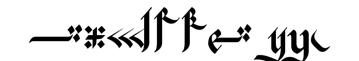 Kingthings Flourishes Font OTHER CHARS