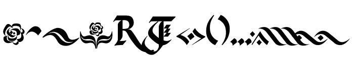 Kingthings Flourishes Font LOWERCASE