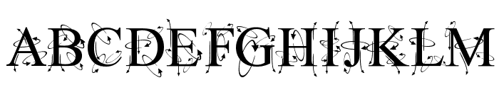 Kingthings Frontwards Font UPPERCASE
