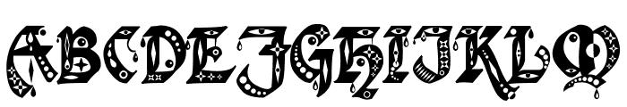 Kingthings Gothique Font UPPERCASE