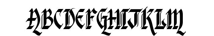 Kingthings Italique Font UPPERCASE