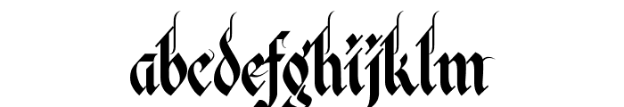 Kingthings Italique Font LOWERCASE