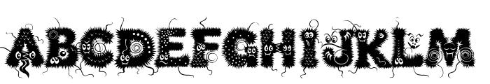Kingthings Lupine Font UPPERCASE