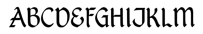 Kingthings Petrock Light Font UPPERCASE