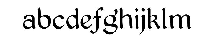 Kingthings Petrock Light Font LOWERCASE