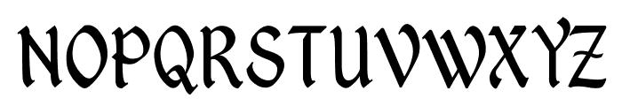 Kingthings PetrockLight Font UPPERCASE
