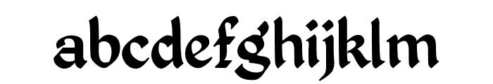 Kingthings Petrock Font LOWERCASE