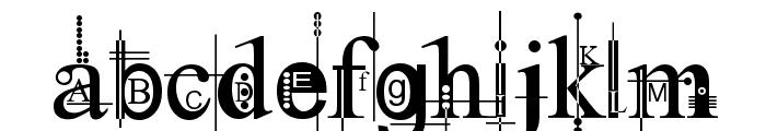 Kingthings Pique'n'meex Font LOWERCASE