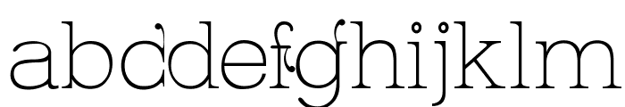 Kingthings Serifique Ultralight Font LOWERCASE