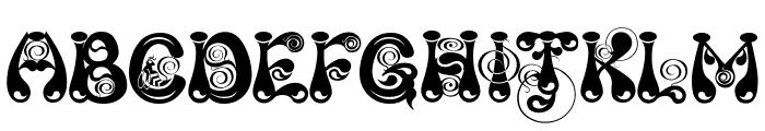 Kingthings Slipperylip Font UPPERCASE