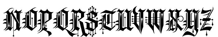 Kingthings Spike Font UPPERCASE