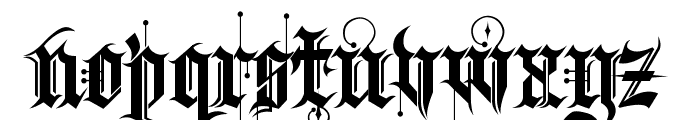 Kingthings Spike Font LOWERCASE