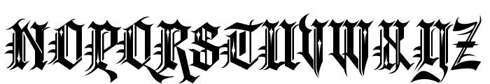 Kingthings Spikeless Font UPPERCASE