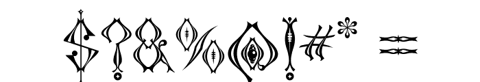 Kingthings Tendrylle Font OTHER CHARS