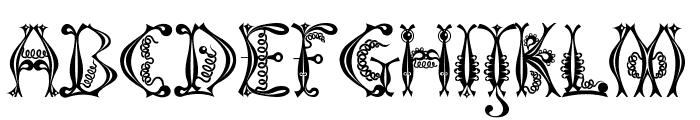 Kingthings Tendrylle Font UPPERCASE