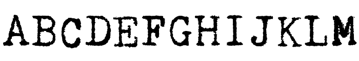 Kingthings Trypewriter 2 Font UPPERCASE