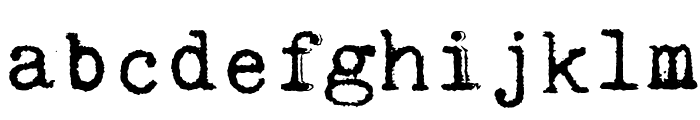 Kingthings Trypewriter Font LOWERCASE