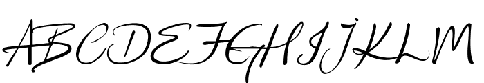 Kingthings Wrote Font UPPERCASE