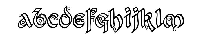 Kingthings Xander Outline Font LOWERCASE