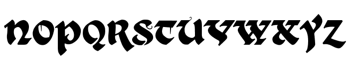 Kingthings Xander Font LOWERCASE