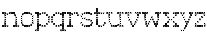 Kingthings Xstitch Font LOWERCASE