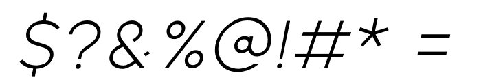 Kiona Itallic Font OTHER CHARS