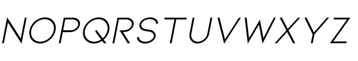 Kiona Itallic Font UPPERCASE