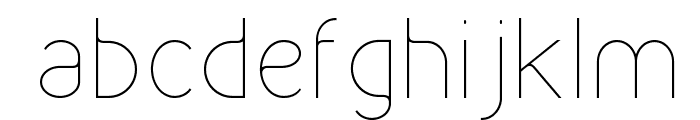 Kirvy Thin Font LOWERCASE