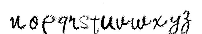 Kishore-Distort Font LOWERCASE