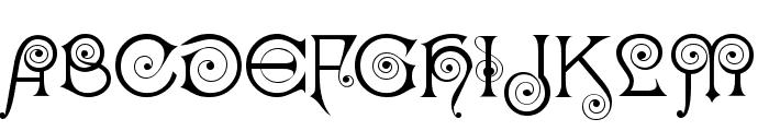 Kisstelle Font UPPERCASE