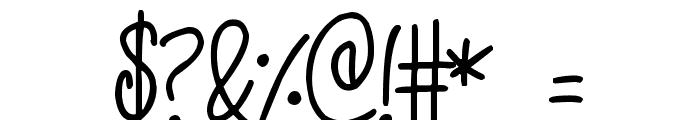 Kissy Font OTHER CHARS