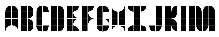 Kitchen Tiles Font UPPERCASE