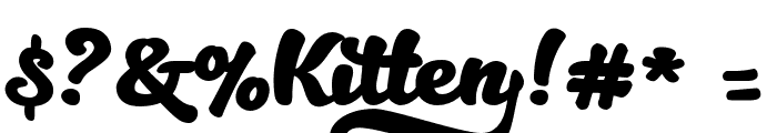 Kitten Bold Font OTHER CHARS