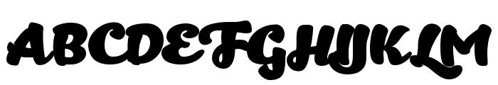 Kitten Fat Font UPPERCASE