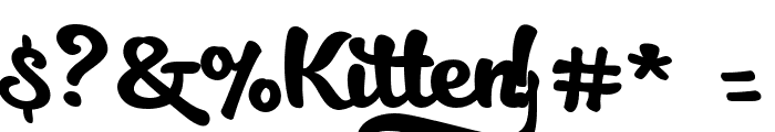 Kitten Slant Font OTHER CHARS