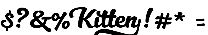 Kitten Swash Font OTHER CHARS