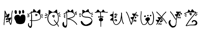 Kitty face Font UPPERCASE