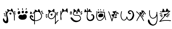 Kitty face Font LOWERCASE