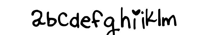 Kittyspoon Font LOWERCASE