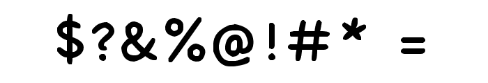 Kiwi School Handwriting Font OTHER CHARS