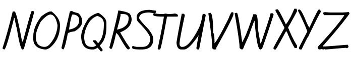 Kiwi School Handwriting Font UPPERCASE