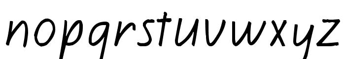 Kiwi School Handwriting Font LOWERCASE