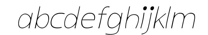 kiddySans-LightItalic Font LOWERCASE