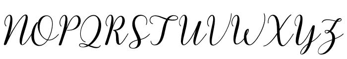 kissitademo Font UPPERCASE