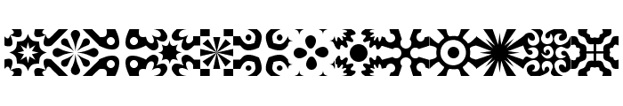 kitchen tile Font LOWERCASE