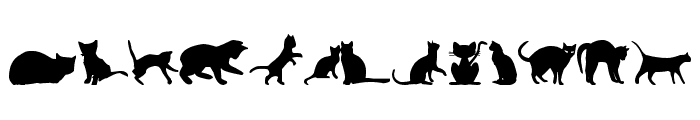 kitty cats tfb Font LOWERCASE