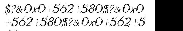 Kidela Sketch Italic Font OTHER CHARS