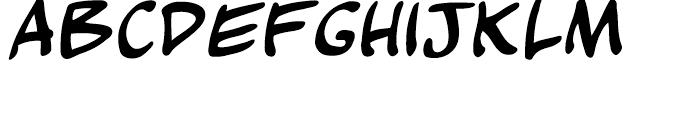 Kickback Regular Font UPPERCASE