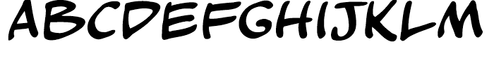 Kickback Regular Font LOWERCASE